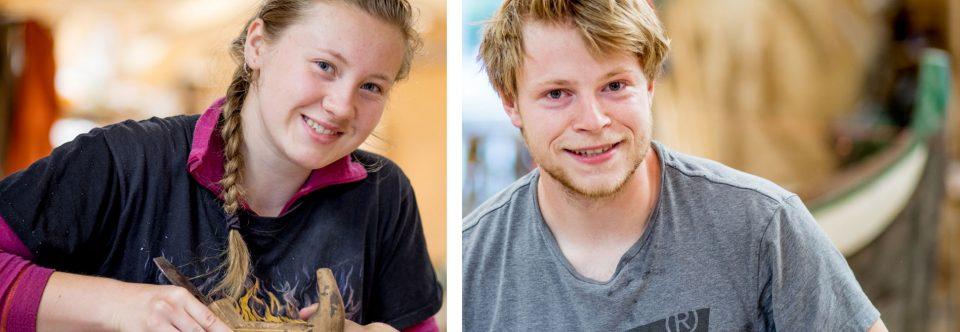 Ella  og  Fredrik,  dei  nye  lærlingane  våre